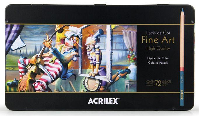 Lápis de Cor Fine Art Técnico Acrilex 72 Cores