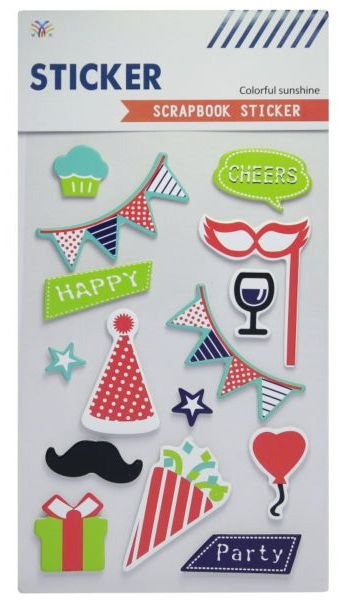 Sticker Scrapbook 3D - Colorful Sunshine Party