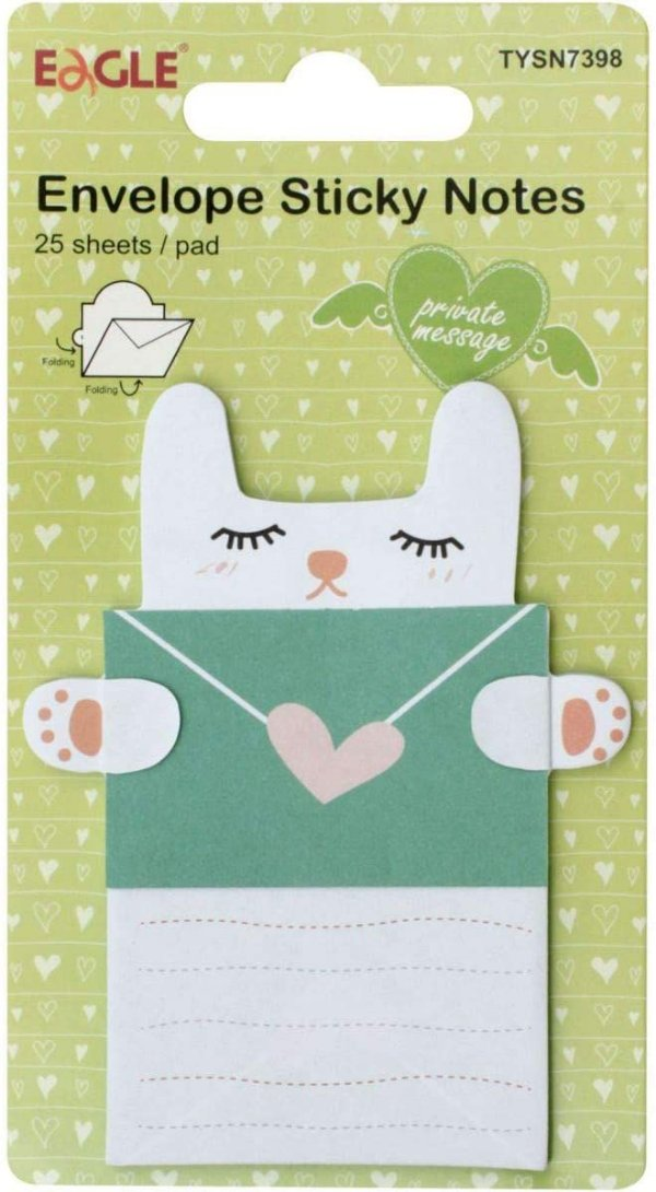 Sticky Notes Modelo Envelope Gatinho Eagle