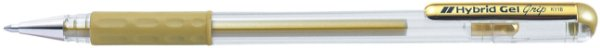 Caneta Hybrid Gel Grip Metallic Ouro K118-Mp
