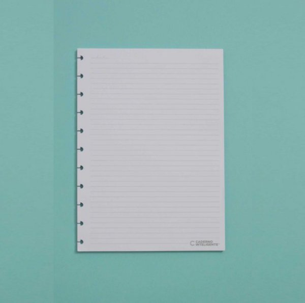 Refil Caderno Inteligente - Pautado Médio