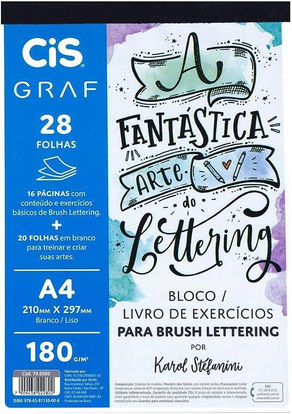 Bloco Livro Exercícios para Brush Lettering
