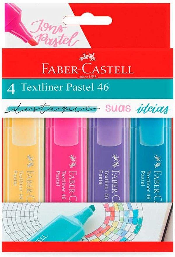 Marca Texto Texliner Pastel 46 Faber Castell Estojo c/ 4
