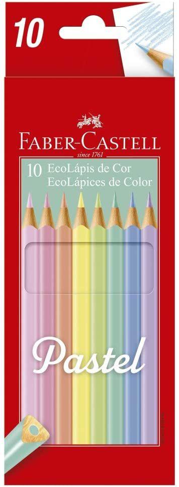 Lápis de Cor Faber-Castell Pastel 10 Cores