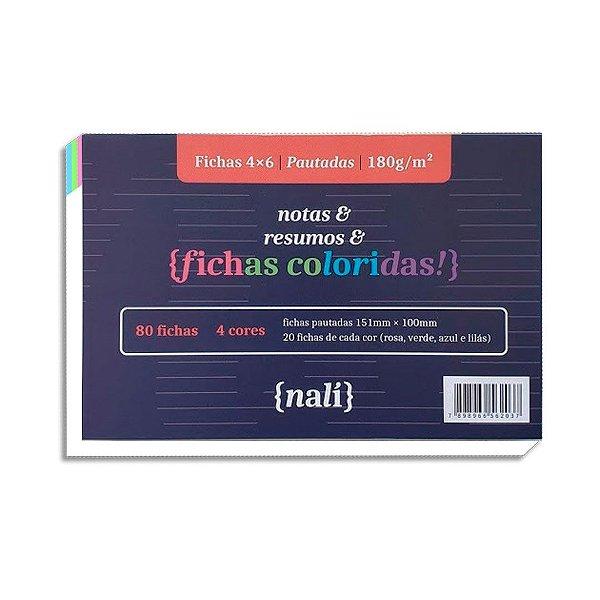 Fichas Coloridas Nali 4 X 6 150g c/80 folhas