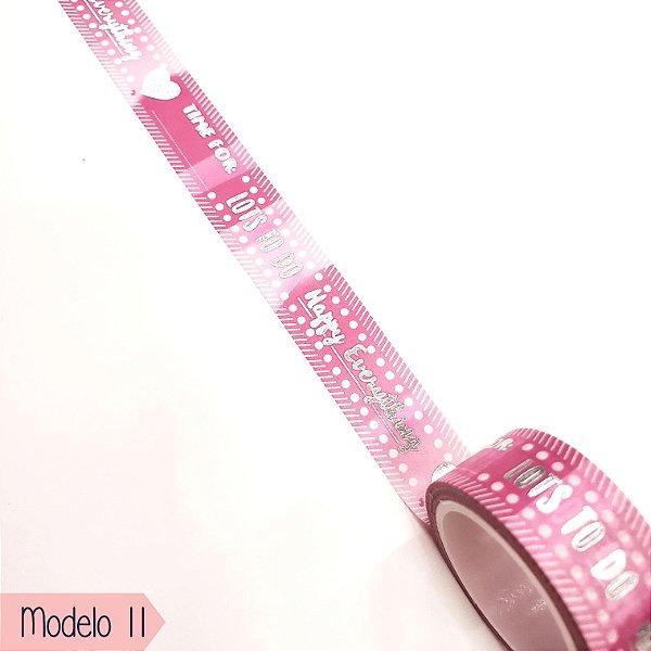 Fita Adesiva Washi Tape Brw  - Shine Modelo 10 ao 18