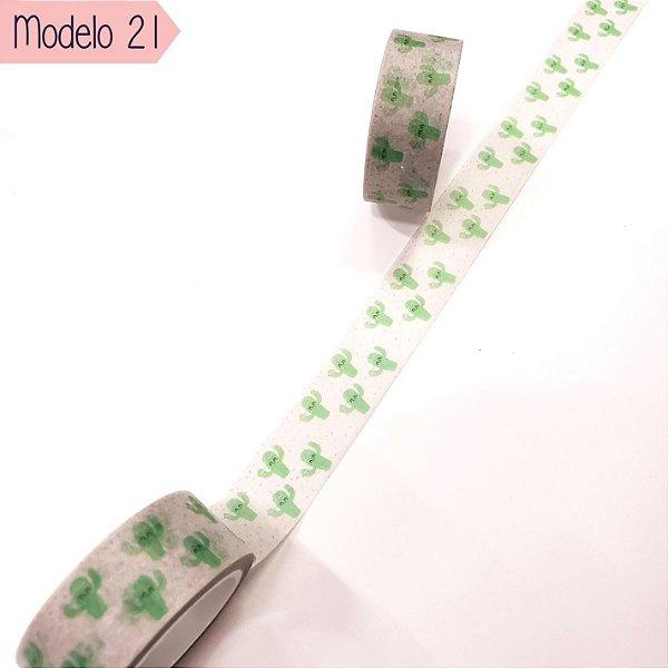 Fita Adesiva Washi Tape Brw Nature Modelo 21 ao 24