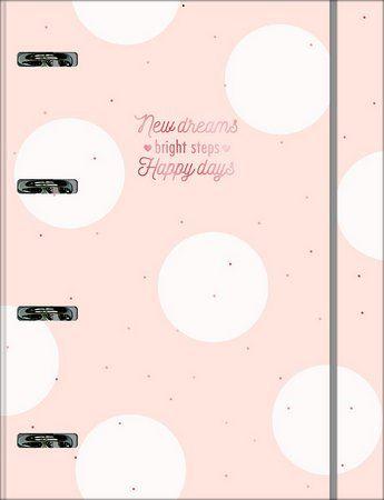 Caderno Argolado Cartonado Universitário com Elástico Soho 80 Folhas