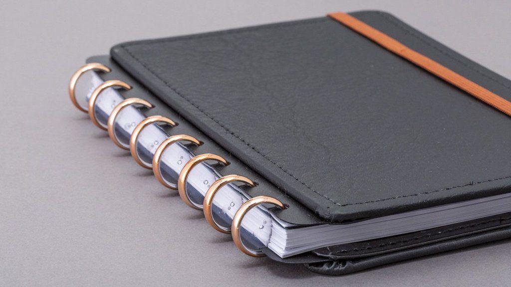 Discos + Elásticos Caderno Inteligente - Rose Gold