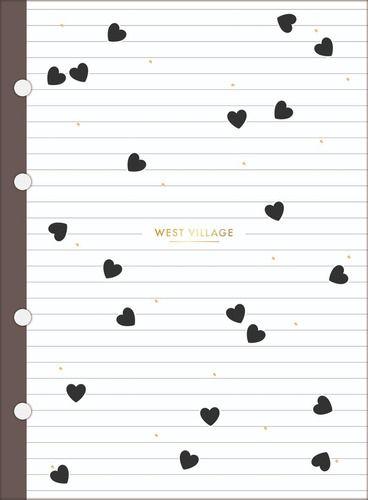 Refil Tiliflex para Caderno Argolado - Colegial West Village 80 Folhas