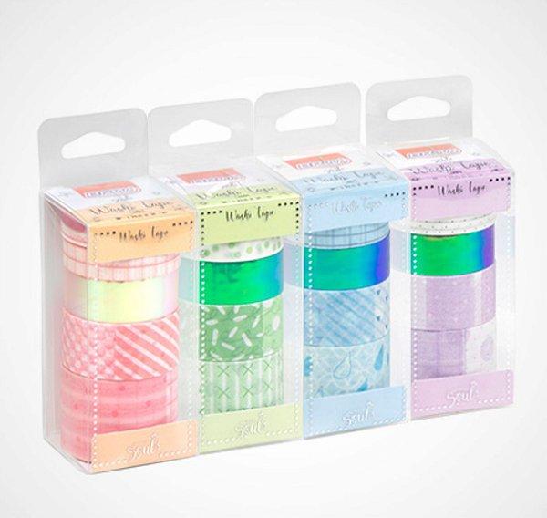 Fita Adesiva Washi Tape Brw Candy Color c/6