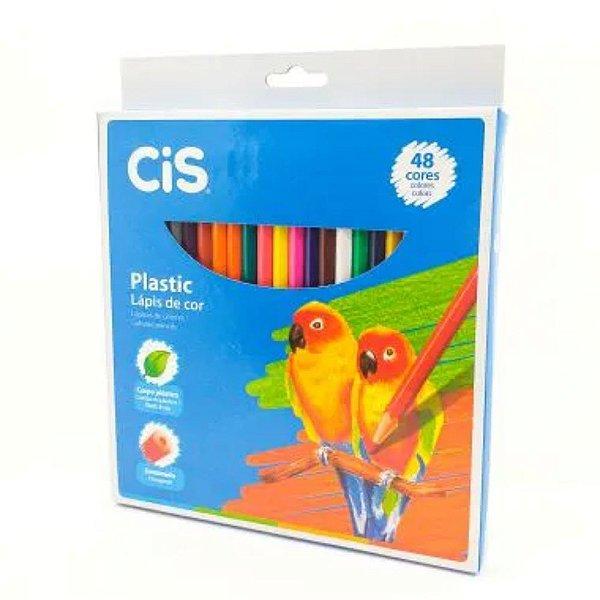 Lápis de Cor 48 Cores Cis Plastic