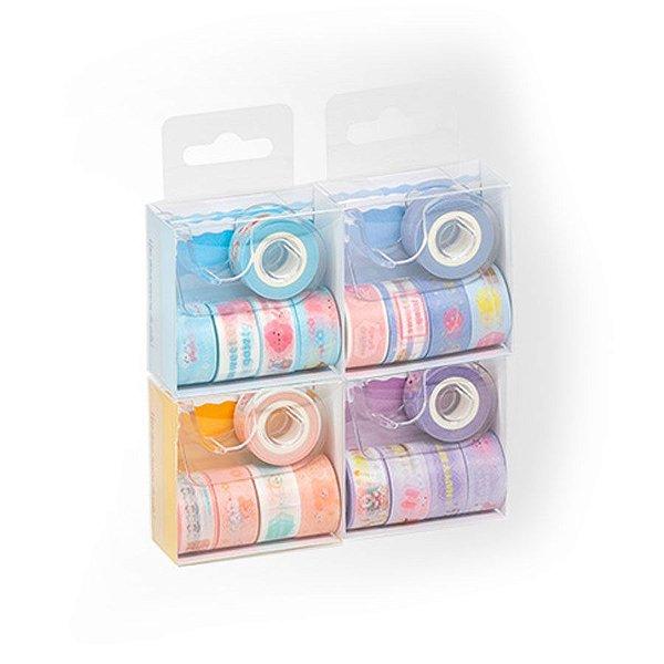 Fita Adesiva Washi Tape Brw Mini com Dispenser