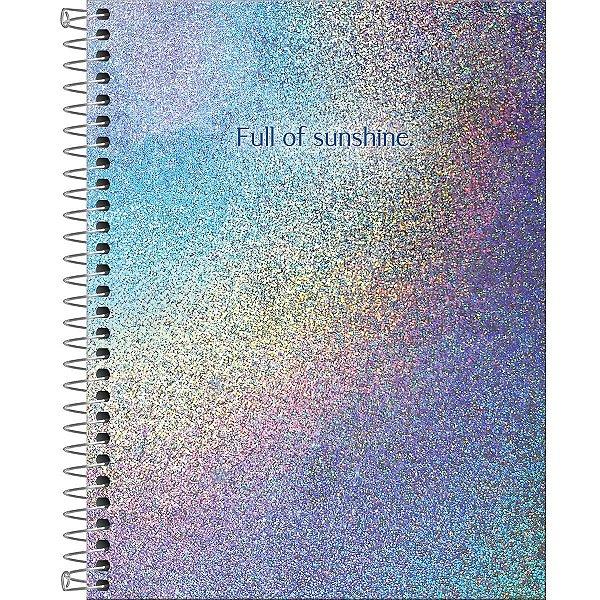 Caderno Colegial 1 Matéria Tilibra Glow 80 folhas
