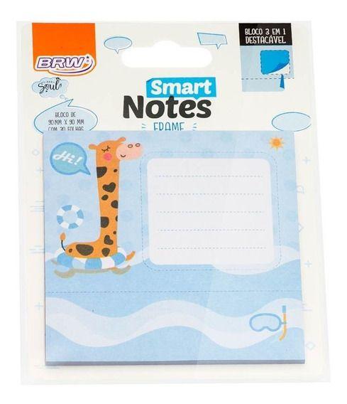 Bloco Smart Notes Brw Frame 3em1 90x90mm - Girafa