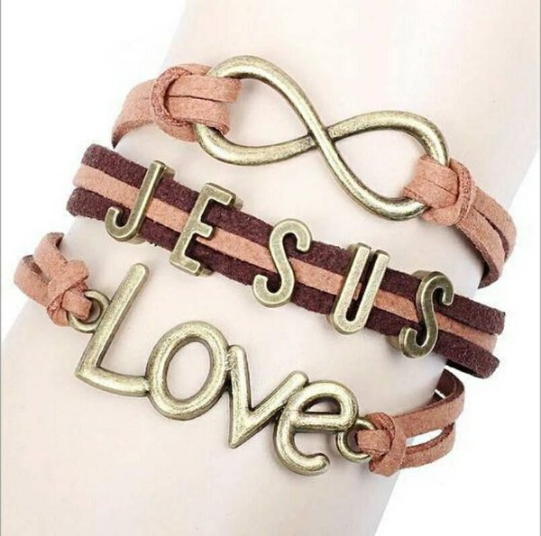 Pulseira Fita de Couro Jesus Love