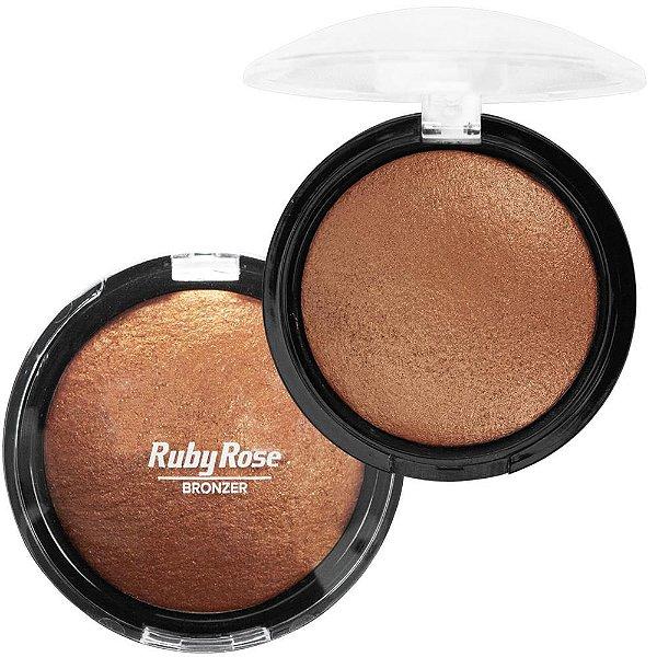 Pó Iluminador e Bronzer Ruby Rose Cor 6