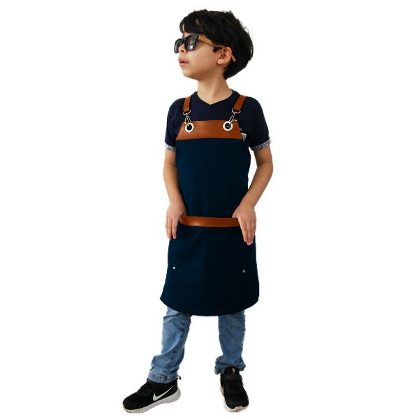 Avental em Sarja azul modelo Onza infantil