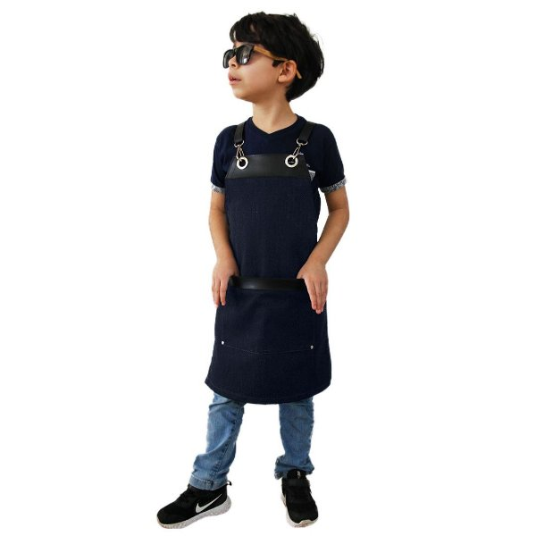 Avental em Jeans modelo Onza infantil