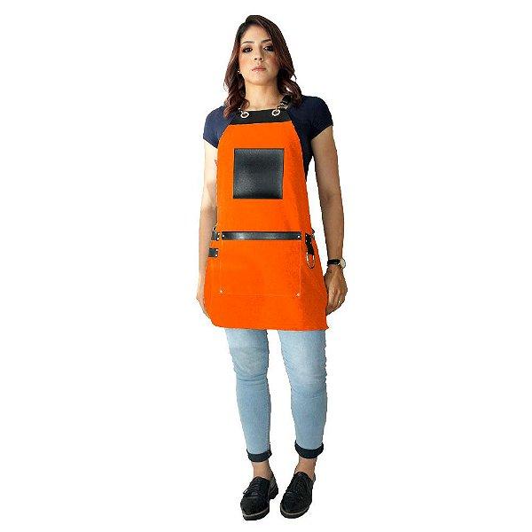 Avental em Sarja laranja modelo Avodah feminino