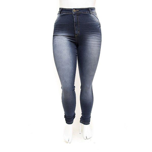 Calça Jeans Feminina Plus Size Cintura Alta Hot Pants Skinny Helix