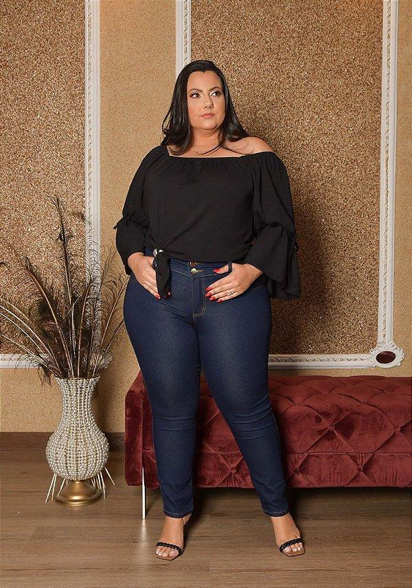 Calça Jeans Ane Plus Size Skinny Kethilyn Azul