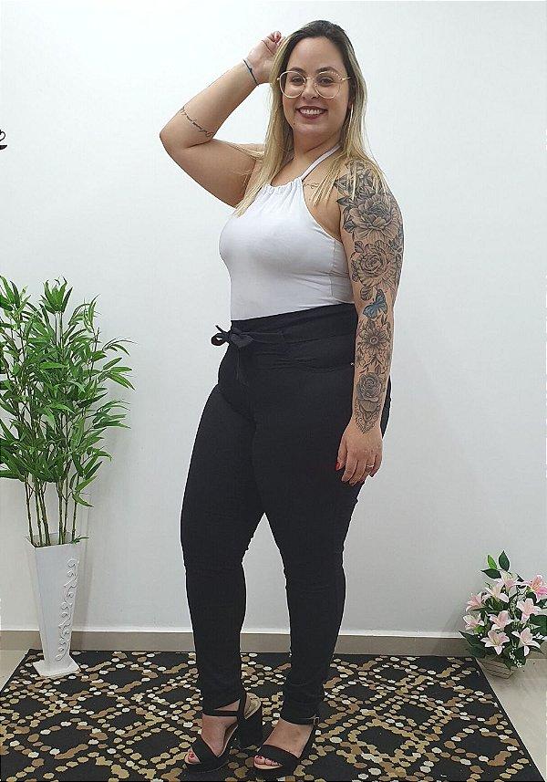 Calça Jeans Credencial Plus Size Clochard Raniely Preta