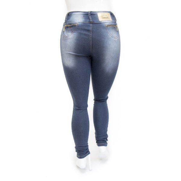 Calça Jeans Plus Size Feminina Levanta Bumbum Credencial