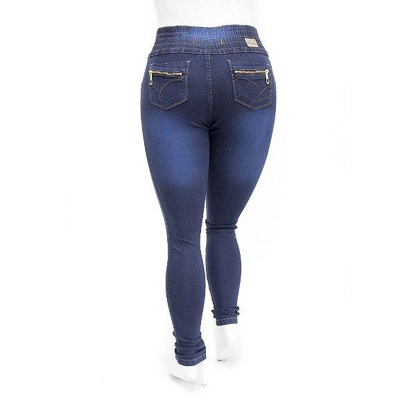 Calça Jeans Feminina Plus Size Helix Azul Carbono