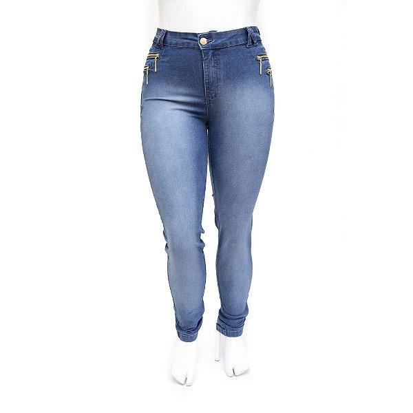 Calça Plus Size Jeans Feminina Hot Pants Cheris