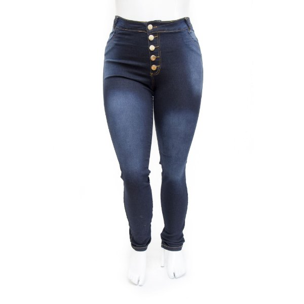Calça Jeans Plus Size Feminina Hot Pants Escura Thomix