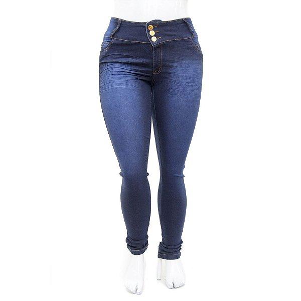 Calça Jeans Plus Size Feminina Azul Bic Credencial com Elastano