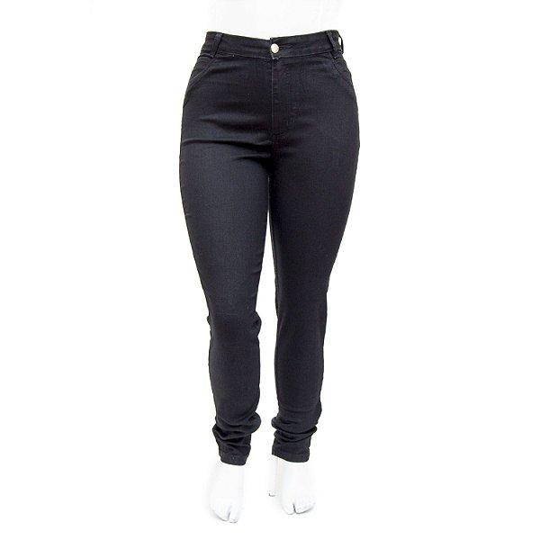 Calça Jeans Feminina Plus Size Preta Hot Pants Cheris