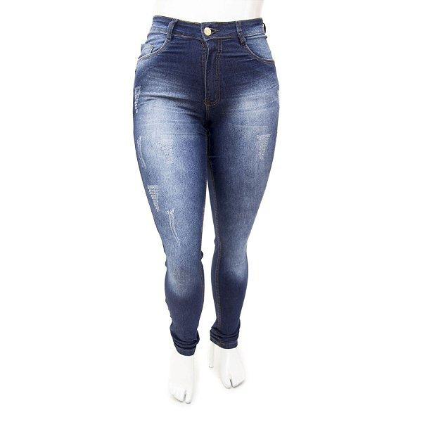 Calça Jeans Plus Size Feminina Hot Pants Thomix Cintura Alta