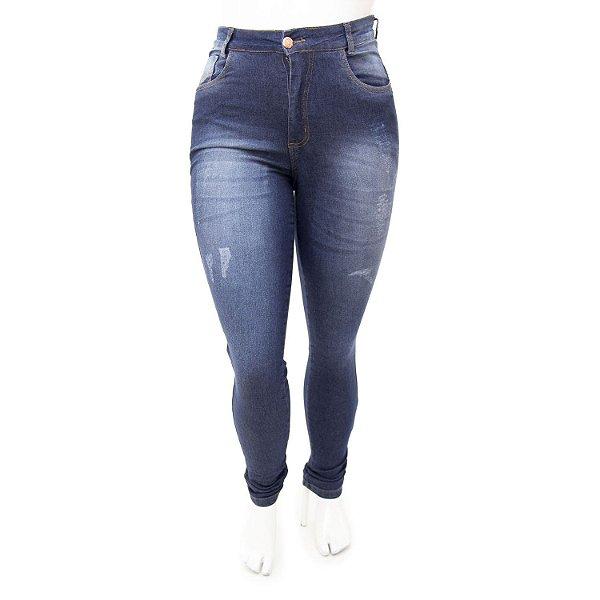 Calça Jeans Plus Size Feminina Hot Pants Hevox Cintura Alta