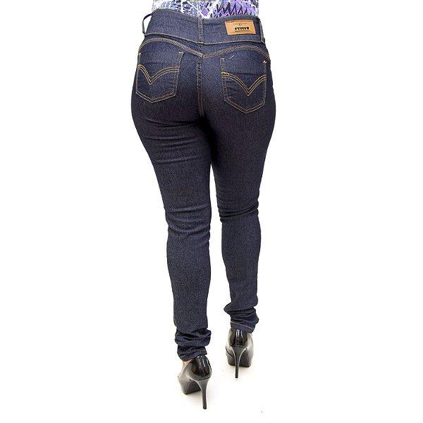 Calça Jeans Feminina Azul Escura Helix com Lycra