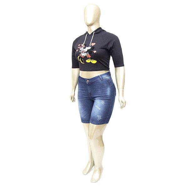 Bermuda Jeans Plus Size Azul MC2