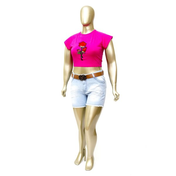Shorts Boy Fit Plus Size com Cinto Cambos