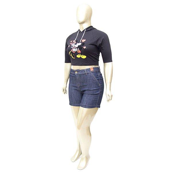 Shorts Plus Size Escuro Bokker