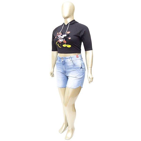 Shorts Plus Size Claro Bokker