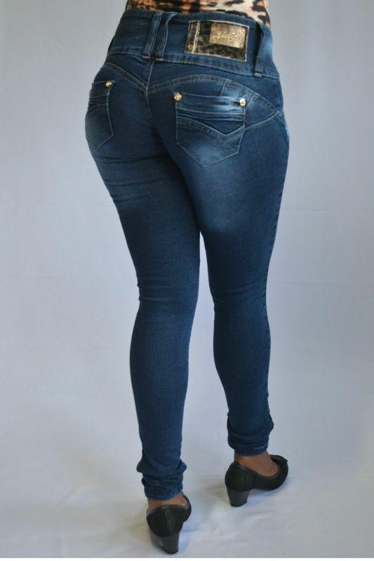 Calça Jeans Latif Azul Modelo Legging Levanta Bumbum