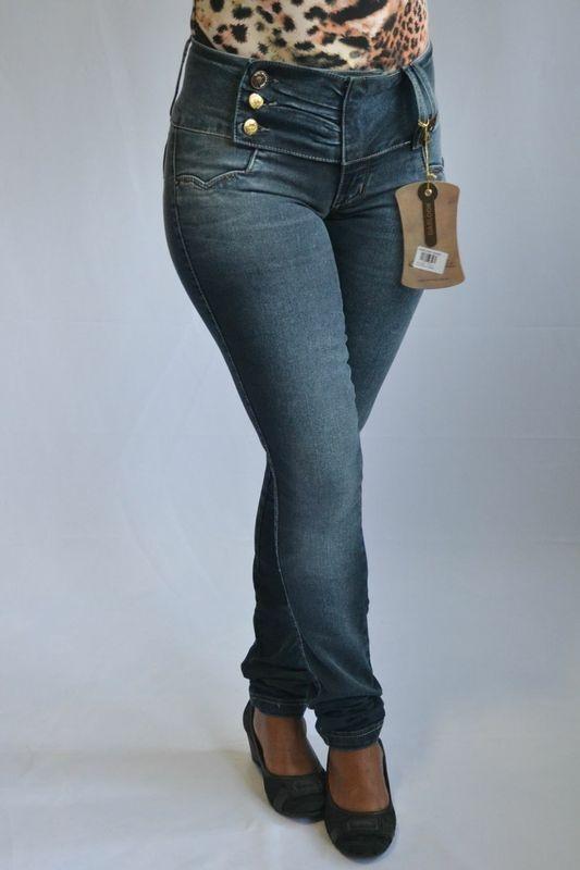 Calça Jeans Escura Feminina Darlook Levanta Bumbum