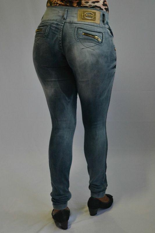 Calça Jeans Manchada Bel Belita Levanta Bumbum