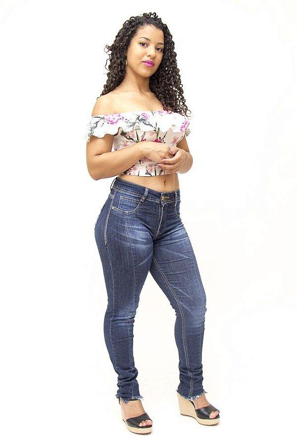 Calça Jeans Feminina Escura Sawary Elena