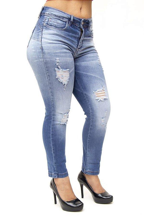 Calça Jeans Consciência Skinny Cigarrete Marielen Azul