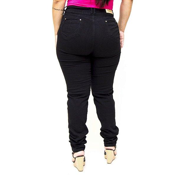 Calça Jeans Cheris Plus Size Skinny Kassila Preta