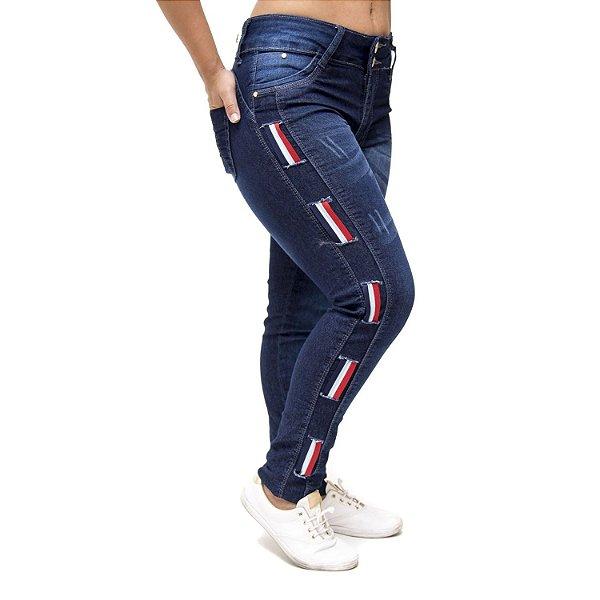 Calça Jeans Cheris Skinny Nilceia Azul