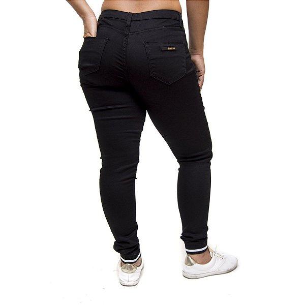 Calça Jeans Ri19 Skinny Super Conforto Leyce Preta