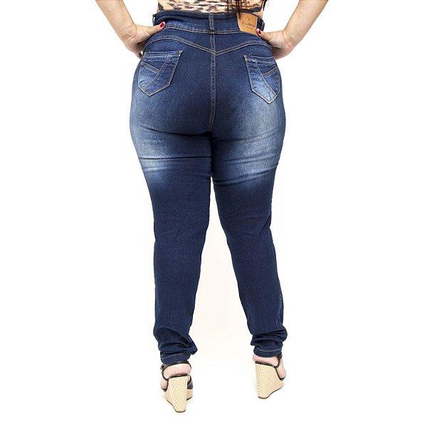 Calça Jeans Credencial Plus Size Skinny Camille Azul