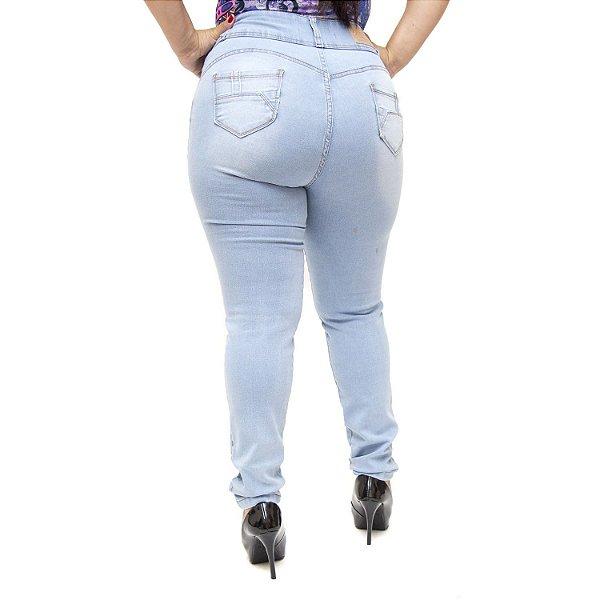 Calça Jeans Credencial Plus Size Skinny Kerollyn Azul